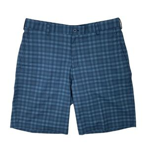 Nike Golf Gray And Black Plaid Shorts Dri Fit